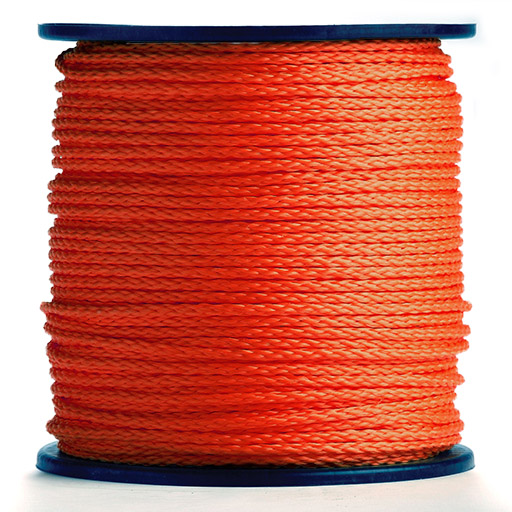 International Orange Hollow Braid