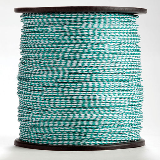 Kelly Green/White Hollow Braid
