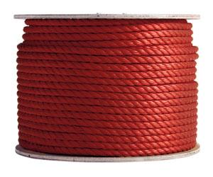 3 Strand Red Polypropylene