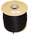 Solid Braid Black Nylon 1000-ft x 1/8-inch