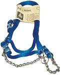 Fully Adjustable Solid Blue 5/8-inch Solid Braided Polypropylene Halter with chain 5/8-inch