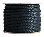 3 Strand Twisted Black Polypropylene 1200-ft x 3/16-inch - 2 spools