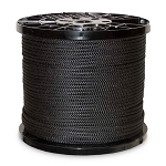 Polyester Black Knit Braided Clothesline - Draw String 1000-ft x 1/4-inch