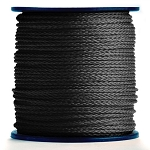 Hollow Braid Black Polypropylene 1000-ft. x 1/4-inch - 2 spools