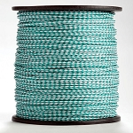 Hollow Braid Kelly Green / White Polypropylene 1000-ft. x 1/4-inch - 2 Spools