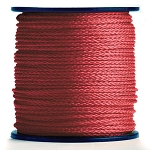 Hollow Braid Red Polypropylene 1000-ft. x 1/4-inch - 2 Spools
