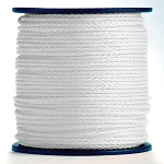 Hollow Braid White Polypropylene 1000-ft. x 1/2-inch - 2 Spools