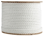 3 Strand Twisted White Polypropylene 1200-ft. x 3/16-inch - 2 Spools