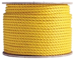 3 Strand Twisted Yellow Polypropylene 600-ft x 1/2-inch - 2 Spools