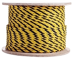 3 Strand Twisted Yellow / Yellow / Black Polypropylene 1200-ft. x 1/4-inch - 2 Spools