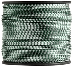 Hollow Braid Hunter Green / White Polypropylene 3000-ft. x 1/4-inch - 2 Spools