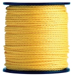 Hollow Braid Yellow Polypropylene 1000-ft. x 1/4-inch - 2 Spools