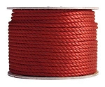 3 Strand Twisted Red Polypropylene 600-ft x 5/16-inch - 2 spools