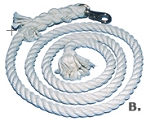 Cotton Lead Rope 8-ft. x 3/4-inch